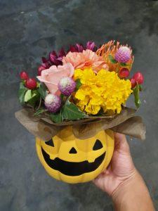 ハロウィンお花アレンジ