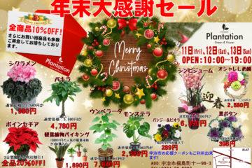 京都の花屋年末大感謝セール2020年